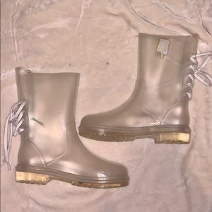 Frosted Rain Boots